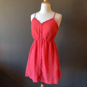FOREVER 21 • Pink Summer Mini Dress with P…